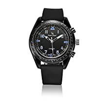 buy V6 Mens Sport Outdoor Easy Style Silicone Band Analog Quartz Wrist Watches-Black