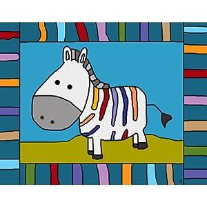 Colorful Zebra Canvas Art