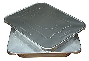 Green Direct Half Size Pans with Lids Perfect Aluminum Cake Pan with Lid Great to be used as a roasting pan in your kitchen