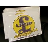 50 UKIP Front Door (No More Leaflets) A5 Boards.