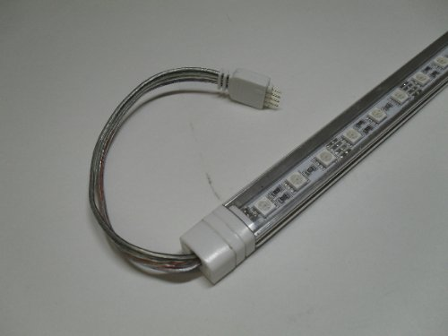 RGB colour changing Rigid LED TUBE add on kit 2 x 500mm with fixing brackets