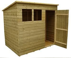8x6 garden shed shiplap pent roof tanalised windows for Garden shed 8x6