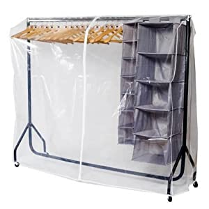 caraselle transparent protective cover for our 6ft clothes. Black Bedroom Furniture Sets. Home Design Ideas