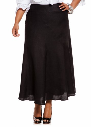 Ashley Stewart Women's Plus Size Linen Full Skirt
