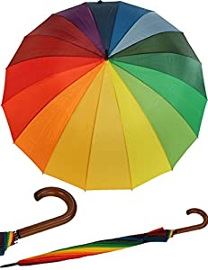 Golfschirm Partnerschirm XXL Stockschirm Regenbogen Rainy Days