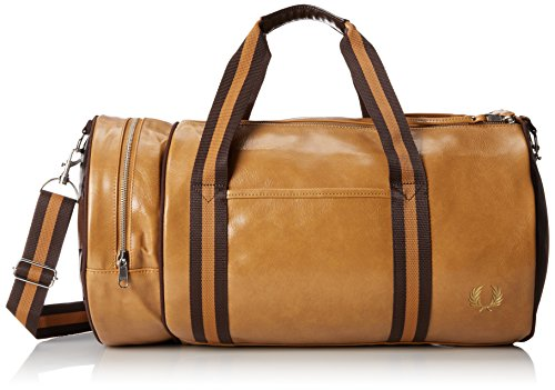 Fred Perry Borsone Tondo Barile Unisex Palestra Weekend Classic Barrel Bag Cm 46x26x26 Approx. L4305 448 Tan
