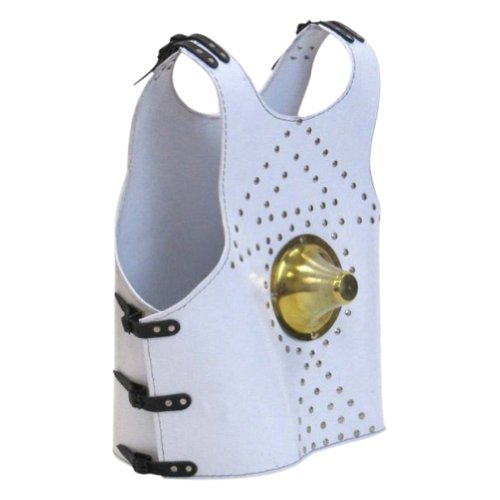 Armor Venue - Brass Fitted Leather Alien Armor Vest - White - One Size