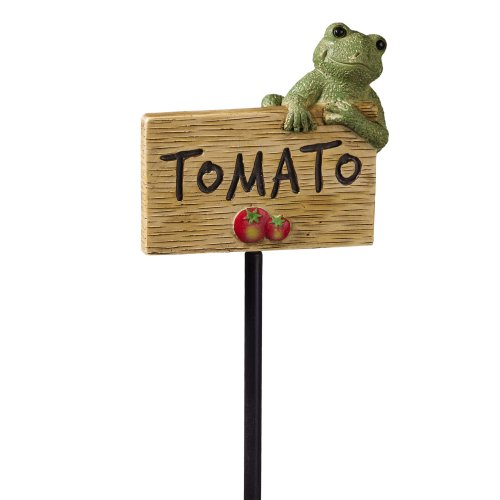 Grasslands Road Frog Figurine Tomato Garden Marker, 27-Inch, Set Of 3 back-964319