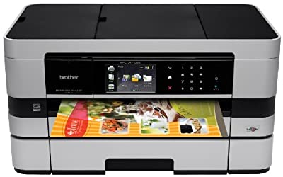 Brother Printer MFCJ4710DW Wireless Color Inkjet All-in-One Printer with Scanner, Copier and Fax, Amazon Dash Replenishment Enabled