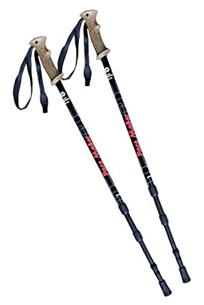Pair Of Pacemaker &quot;journey&quot; Antishock Trekking Poles With Attachments And Extended Life Vulcanized Rubber Feet.