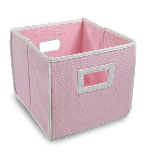 Badger Basket Folding Basket and Storage Cube, Pink