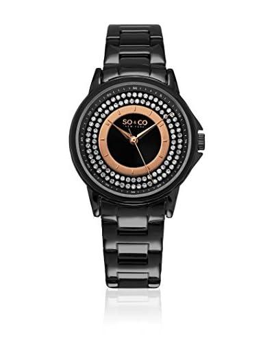 SO & CO New York Reloj con movimiento cuarzo japonés Crystal Outer Dial 36 mm