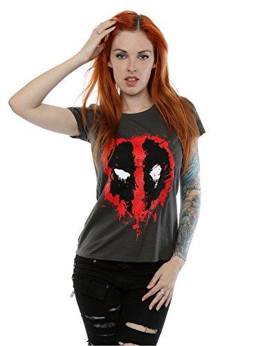 Marvel Donna Deadpool Splat Face Maglietta X-Small grafite Luce