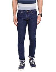 Dais Medium Blue Coloured Cotton Stretch Jeans 36
