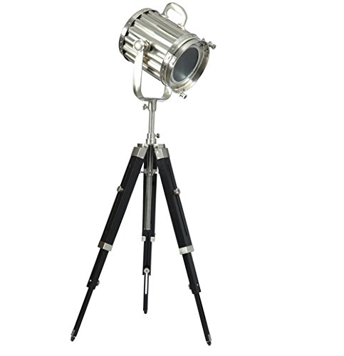 Black Matt Finish Search Light/Floor Light With Tripod Stand (Silver)