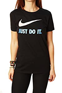 Nike Women's Just Do It Short Sleeve Slim Fit T-Shirt-Medium