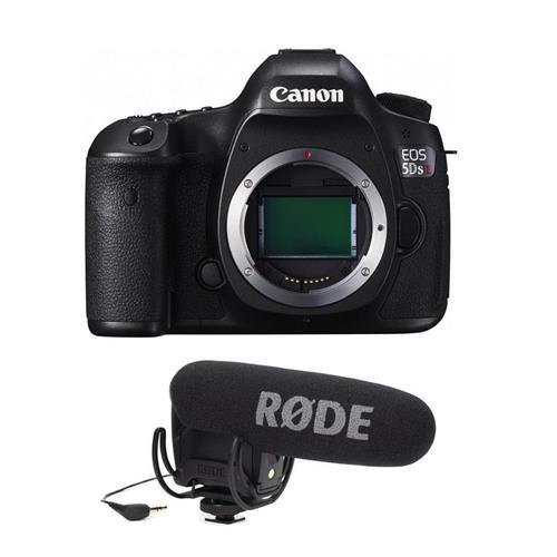 Canon-5DS-R-DSLR-Camera-Body-506MP-Low-Pass-Filter-Effect-Cancellation-WITH-Rode-Microphones-VideoMic-Pro-R-Cardioid-Condenser-Microphone