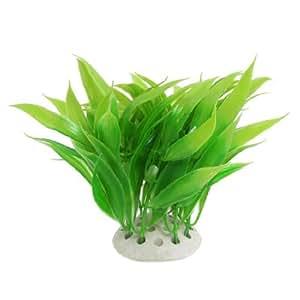 11cm High Green Aquatic Emulational Plants Decor for Fish Tank w Ceramic Base11cm High Green Aquatic Emulational Plants Decor for Fish Tank w Ceramic Base