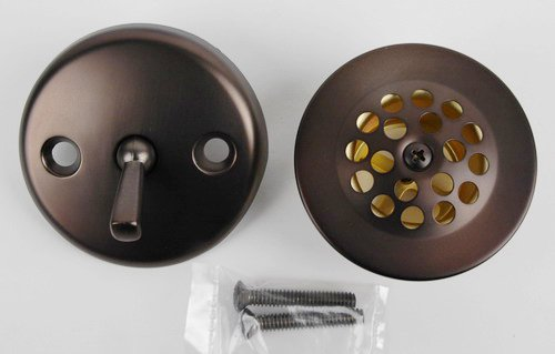 Bathtub Tub Replacement Drain Trim Kit - Oil Rubbed Bronze Finish, Trip Lever Type, By Plumb USA