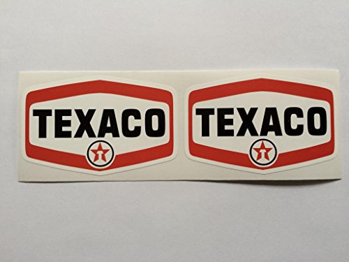 2-texaco-badge-style-die-cut-decals-by-sbd-decals