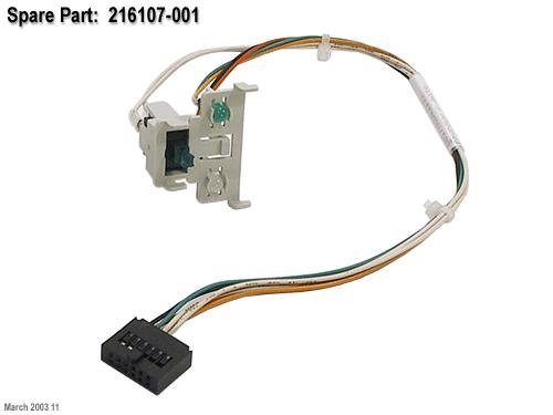 Hp 216107-001 Power Switch With Led Indicators And Cable