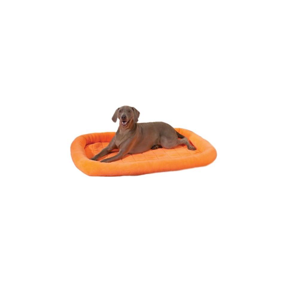 Slumber Pet Velvet Terry Crate Dog Bed, X Large, Nectarine