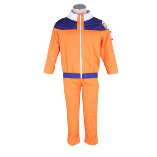 Naruto Cosplay Costume -Uzumaki Naruto 1St Kid Large