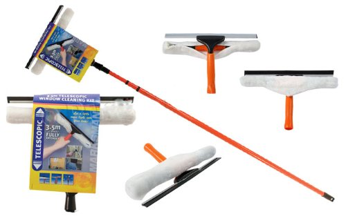bargains-galorer-35m-telescopic-conservatory-window-glass-cleaning-cleaner-kit-with-squeegee-new