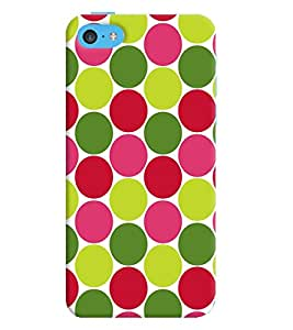 Printvisa Multicoloured Circular Pattern Back Case Cover for Apple iPhone 5C