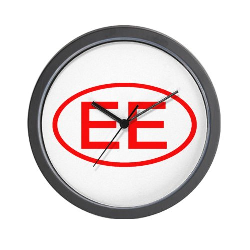 CafePress EE Oval Red Wall Clock