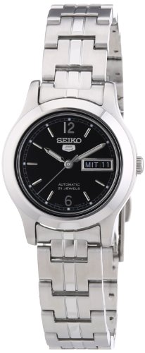 Seiko Women's SYMD99 Stainless Steel Analog with Black Dial Watch