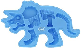 Lifetime Brands Inc. W64516T Fossil-Iced Silicone Ice Tray, Triceratops