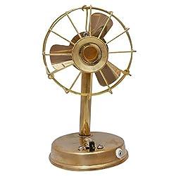 AADI ENTERPRISES Brass Antique Working Fan Showpiece