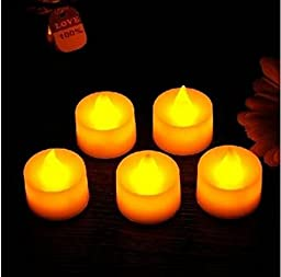 Led Electronic Candle Yellow Lights Romantic Birthday by GokuStore