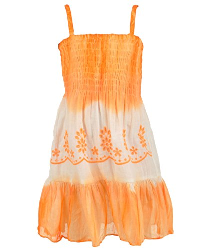"Aqua Blue Little Girls' Toddler ""Flowering Hills"" Dress - Orange, 2T front-158524"