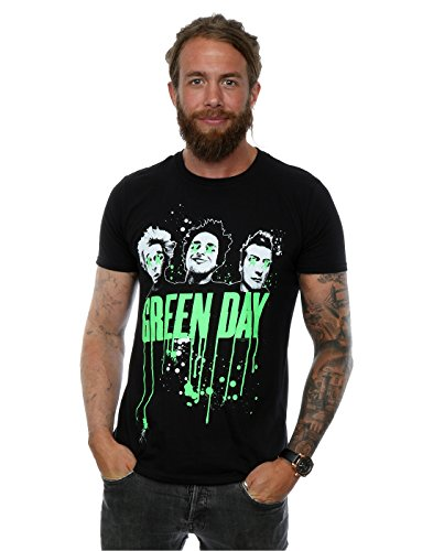 Green Day Uomo Drip T-Shirt X-Large Nero