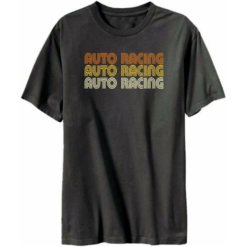 Auto Racing  Site on Apparel Display On Website Auto Racing Retro Color Mens T Shirt
