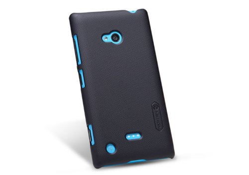 Nillkin Super Frosted Matte Hard Back Cover Case For Nokia Lumia 720 - Black