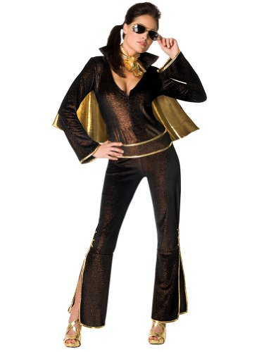 Black Elvis Costume Womens Elvis Impersonator Costume Jumpsuit Cape
