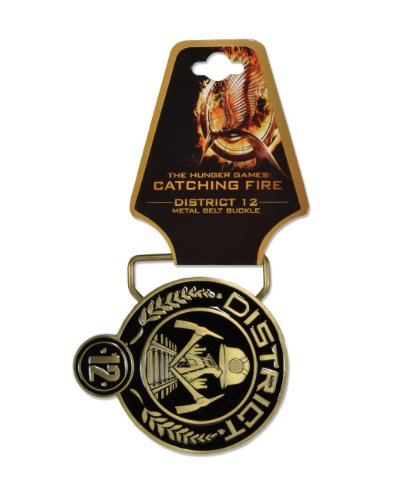 "NECA The Hunger Games: Catching Fire ""District 12"" Metal Belt Buckle"