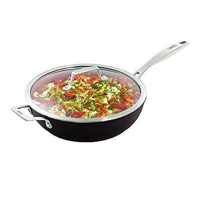 "Bialetti Terracotta Xtra Non-Stick Covered Deep Saute Pan, 11""/3.3 quart, Brown"