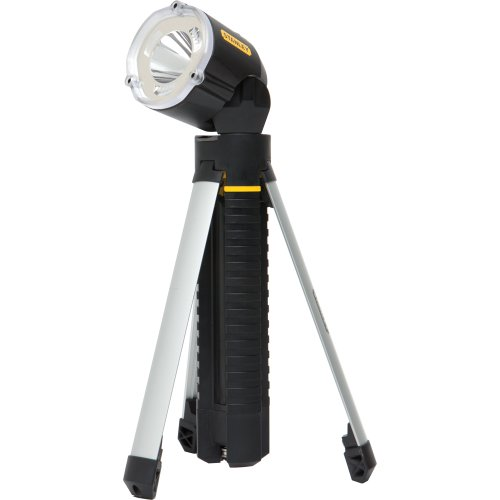 Stanley 5 Watt Led Rechargeable Spotlight: Stanley 95-112B LED Tripod Flashlight Black: