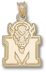 Marshall University M Marco 5 8 - 14K Gold by Logo Art
