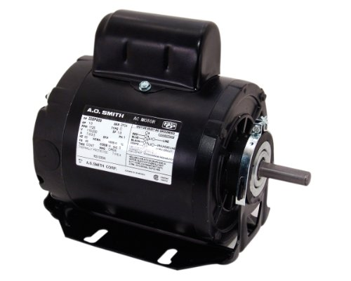 A.O. Smith Rs1050A 1/2 Hp, 1725 Rpm, 115/230 Volts, 48 Frame, Odp Enclosure, Sleeve Bearing Capacitor Start Motor