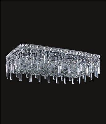 ibiza design rectangular 6 light 24 flush mount ceiling light dressed w. Black Bedroom Furniture Sets. Home Design Ideas