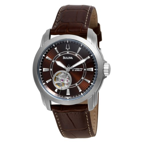 Bulova Men's 96A108 Leather Automatic Watch with Brown Dial