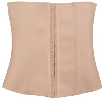 "Squeem ""Perfect Waist"" Firm Compression Waist Cincher Shapewear, Cotton & Rubber, Beige, Small"