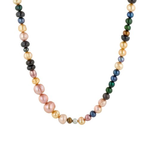 Multi-Color and Shape Freshwater Cultured Pearl Endless Necklace, 36