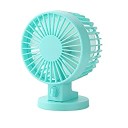 Generic Small Plastic USB Desk Fan Green