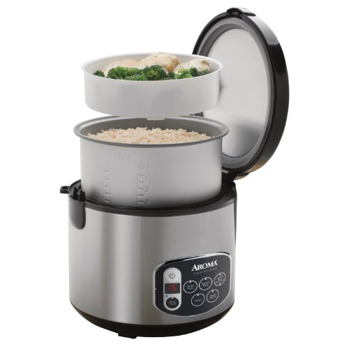 Aroma Digital Rice Cooker Aroma Arc 1010SB 20 Cup Digital Rice Cooker and Food ...